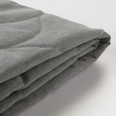NYHAMN Funda para sofá cama 3 plazas, Knisa gris/beige