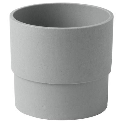 NYPON Maceta, int/ext gris, 9 cm