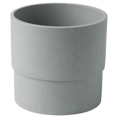 NYPON Maceta, int/ext gris, 12 cm
