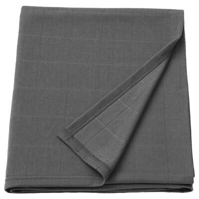 ODDHILD Cobija, gris oscuro, 120x170 cm