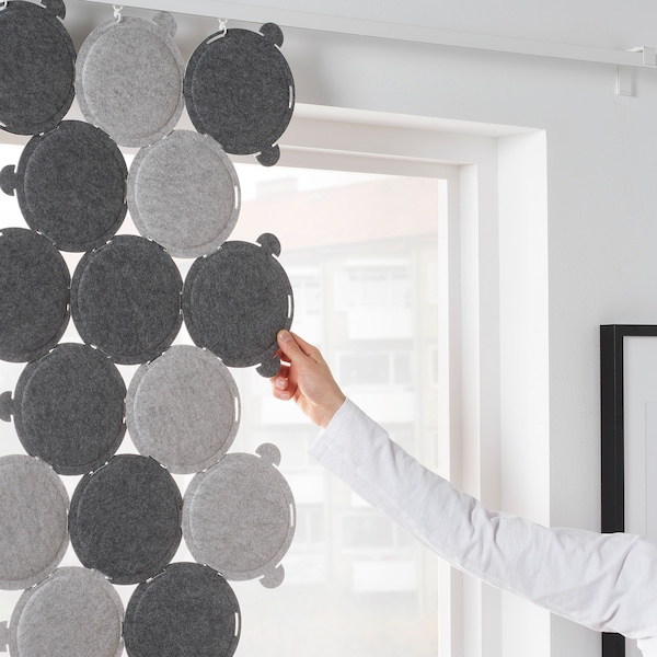 ODDLAUG Panel de absorción con sonido, gris