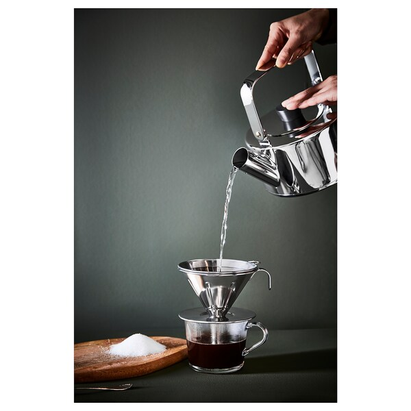 ÖVERST Filtro de metal para café, 3 piezas, ac inox