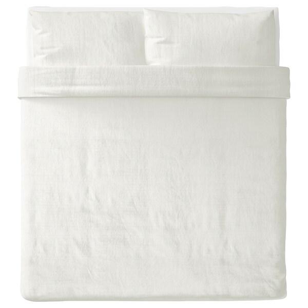 OFELIA VASS Funda nórdica con funda de almohada, blanco, King