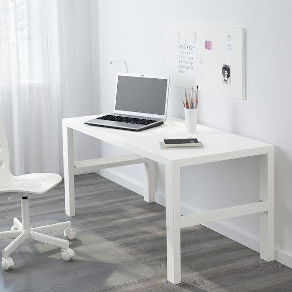 PÅHL Escritorio, blanco, 128x58 cm