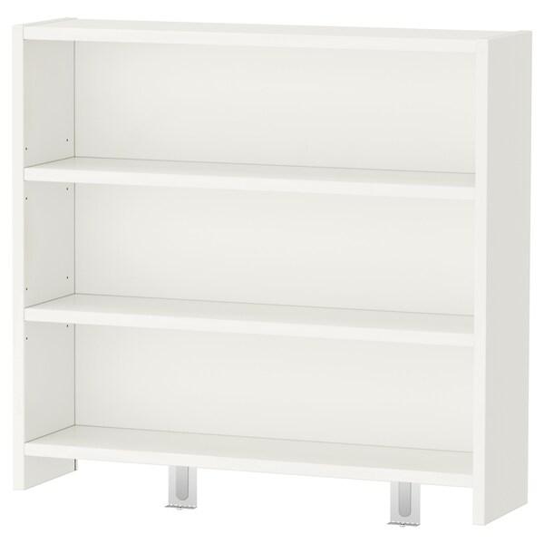 PÅHL Escritorio con estante, blanco, 128x58 cm