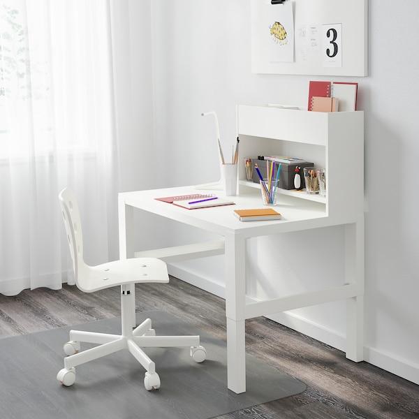 PÅHL Escritorio con módulo adicional, blanco, 96x58 cm