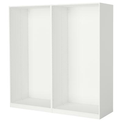 PAX 2 estructuras de clóset, blanco, 200x58x201 cm