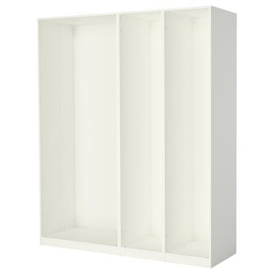 PAX 3 estructuras de clóset, blanco, 200x58x236 cm