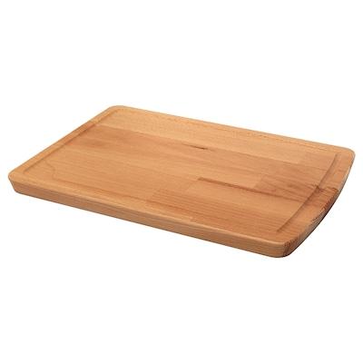 PROPPMÄTT Tabla de cortar, haya, 38x27 cm