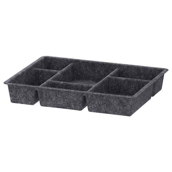 RAGGISAR Bandeja, gris oscuro, 40x30 cm
