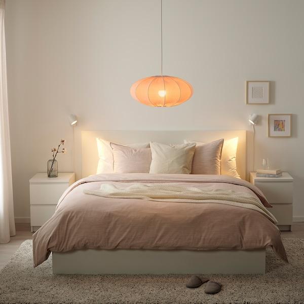 REGNSKUR Pantalla para lámpara de techo, ovalado rosa, 52 cm