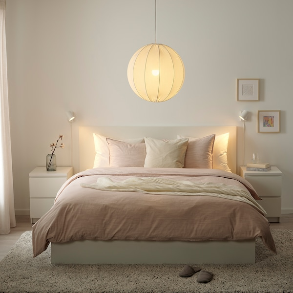 REGNSKUR Pantalla para lámpara de techo, redondo blanco, 50 cm
