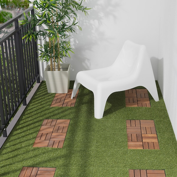 RUNNEN Suelo exterior / suelo terraza, tinte café, 0.81 m²