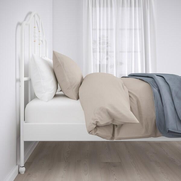 SAGSTUA Base de cama, blanco/Luröy, Matrimonial