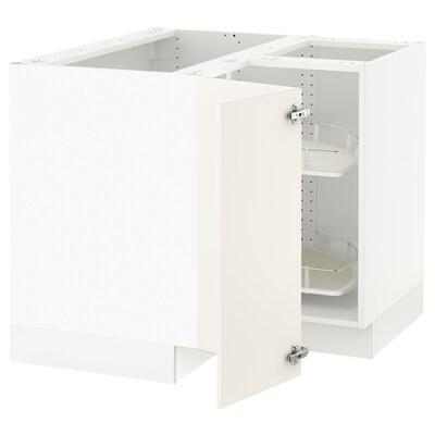 SEKTION Base de gabinete con carrusel, blanco/Veddinge blanco, 97x61x76 cm