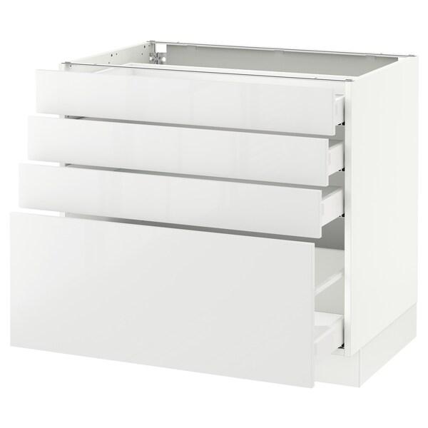 SEKTION Clóset bajo cocina, 4 cajones, blanco Maximera/Ringhult blanco, 91x61x76 cm