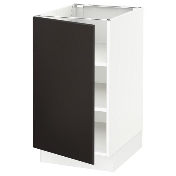 SEKTION Gabinete bajo con repisas, blanco/Kungsbacka carbón, 46x61x76 cm