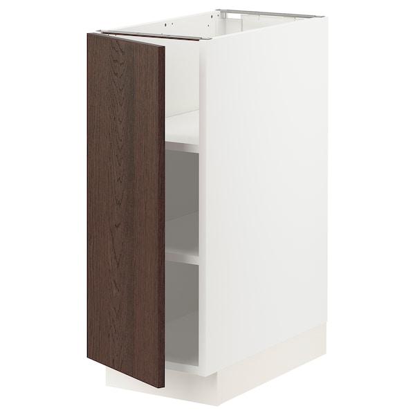 SEKTION Gabinete bajo con repisas, blanco/Sinarp café, 31x61x76 cm