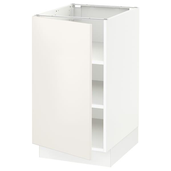 SEKTION Gabinete bajo con repisas, blanco/Veddinge blanco, 46x61x76 cm
