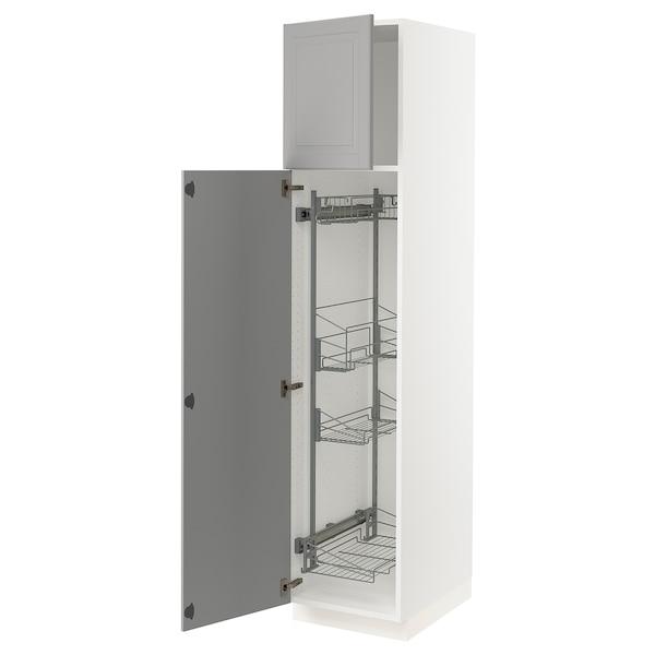 SEKTION Gabinete con canastas extraíbles, blanco/Bodbyn gris, 46x61x203 cm