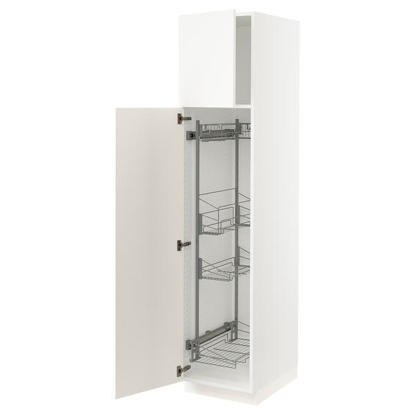SEKTION Gabinete con canastas extraíbles, blanco/Veddinge blanco, 46x61x203 cm
