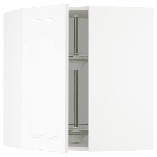 SEKTION Gabinete de esquina con carrusel, blanco/Axstad blanco mate, 66x37x76 cm