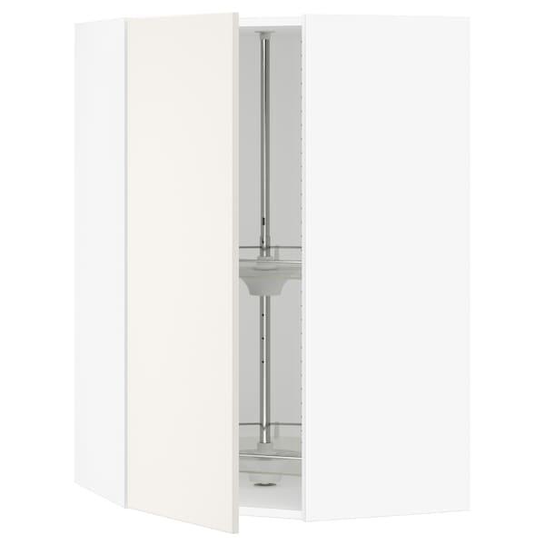 SEKTION Gabinete de esquina con carrusel, blanco/Veddinge blanco, 66x37x102 cm