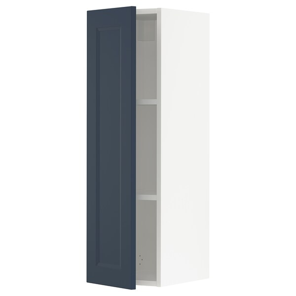 SEKTION Gabinete de pared, blanco Axstad/mate azul, 31x37x102 cm