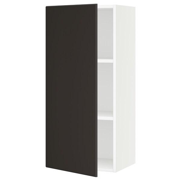 SEKTION Gabinete de pared, blanco/Kungsbacka carbón, 46x37x102 cm
