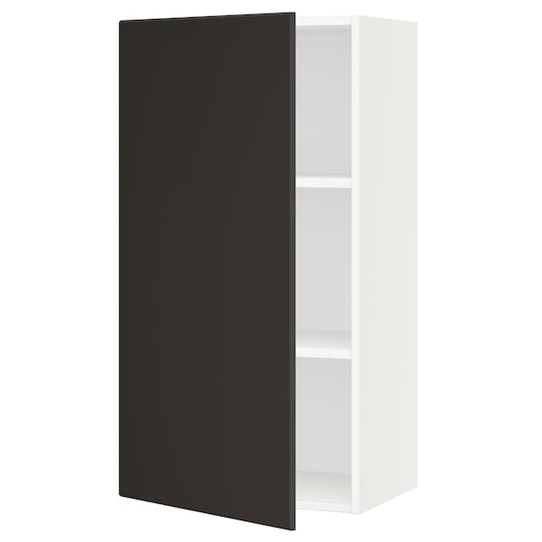 SEKTION Gabinete de pared, blanco/Kungsbacka carbón, 53x37x102 cm