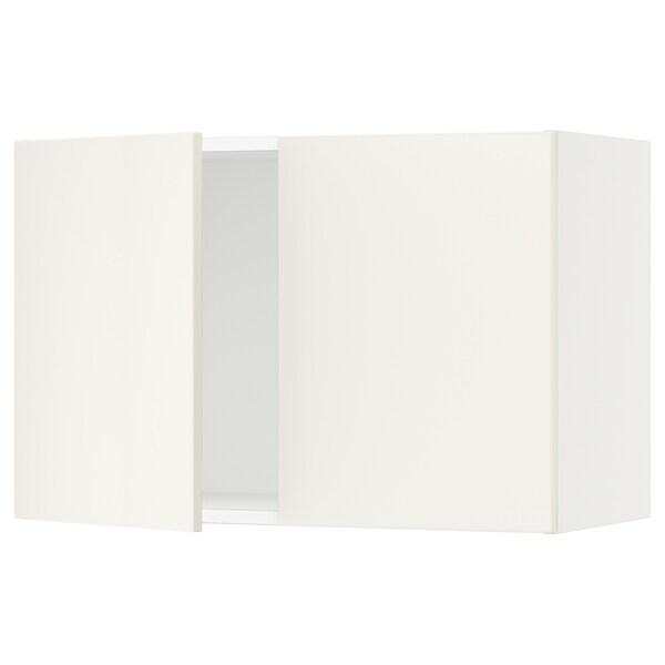 SEKTION Gabinete de pared con 2 puertas, blanco/Veddinge blanco, 76x37x51 cm