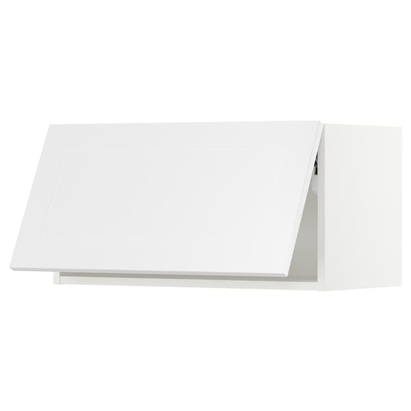 SEKTION Gabinete horizontal de pared, blanco/Axstad blanco mate, 76x37x38 cm