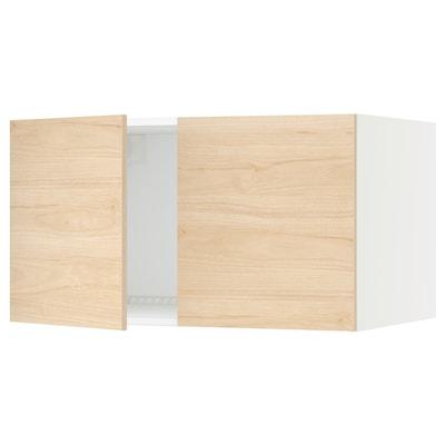 SEKTION Gabinete superior con 2 puertas, blanco/Askersund efecto fresno claro, 91x61x51 cm