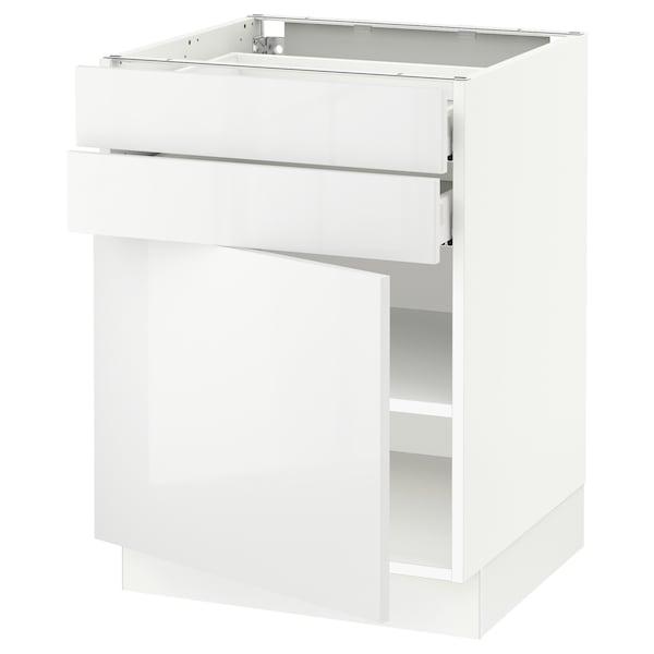 SEKTION / MAXIMERA Gabinete con  2 cajones y 2 puertas, blanco/Ringhult blanco, 61x61x76 cm