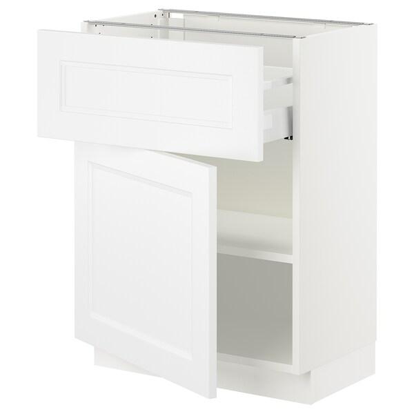 SEKTION / MAXIMERA Gabinete con cajón y puerta, blanco/Axstad blanco mate, 61x37x76 cm