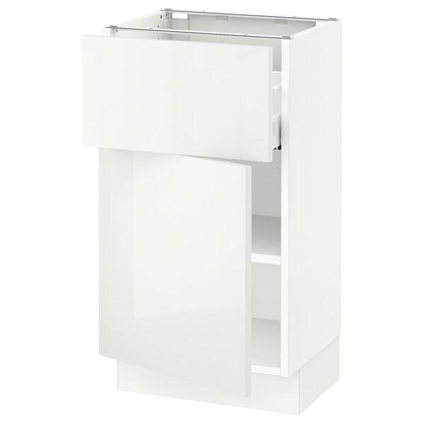 SEKTION / MAXIMERA Gabinete con cajón y puerta, blanco/Ringhult blanco, 46x37x76 cm
