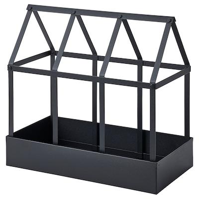 SENAPSKÅL Invernadero decorativo, int/ext negro, 34 cm