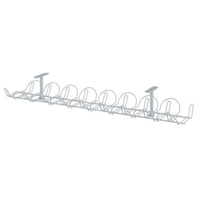 SIGNUM Regleta para cables horizontal, color plateado, 70 cm