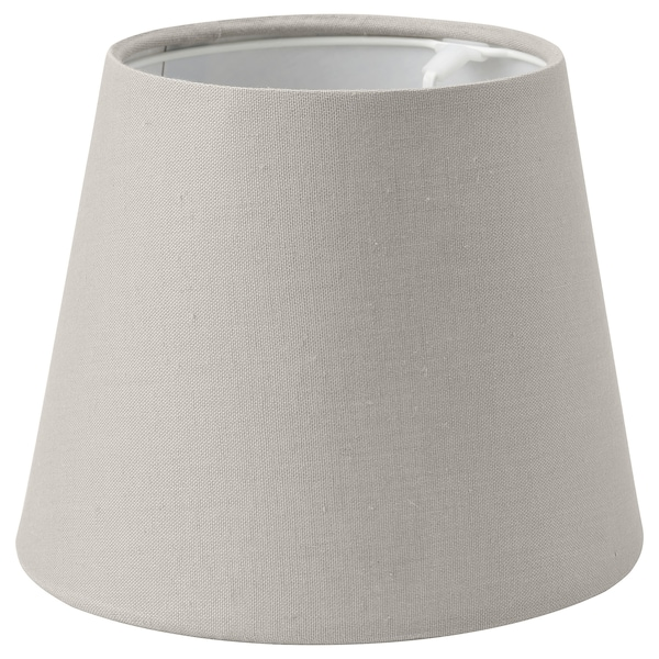 SKOTTORP Pantalla para lámpara, gris claro, 19 cm