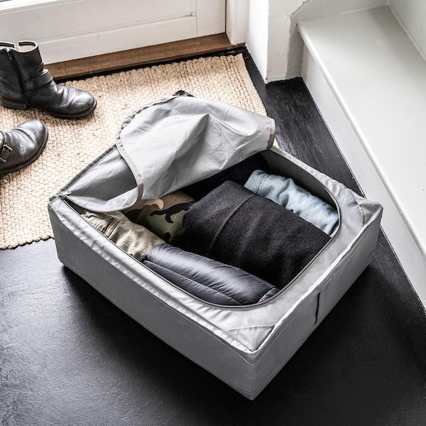 SKUBB Bolsa de almacenaje, gris oscuro, 44x55x19 cm