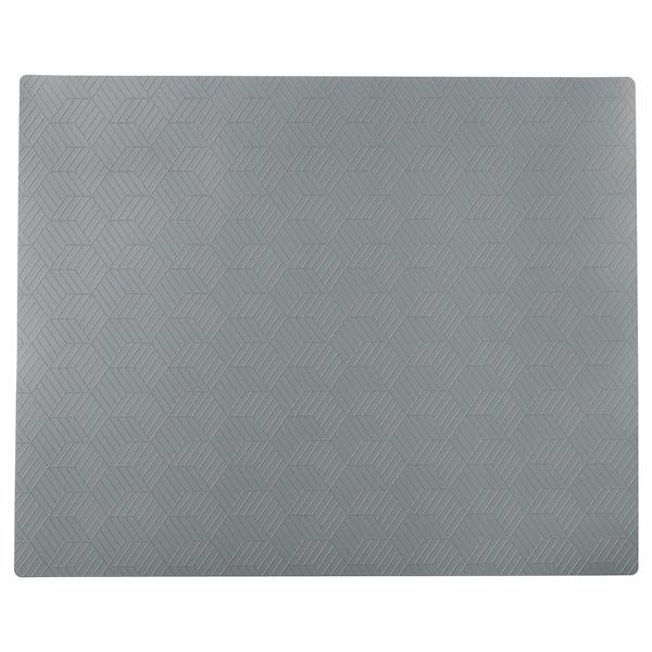 SLIRA Mantel individual, gris, 36x29 cm