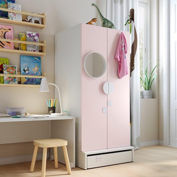 SMÅSTAD / UPPFÖRA Clóset, blanco/rosa claro, 60x63x136 cm