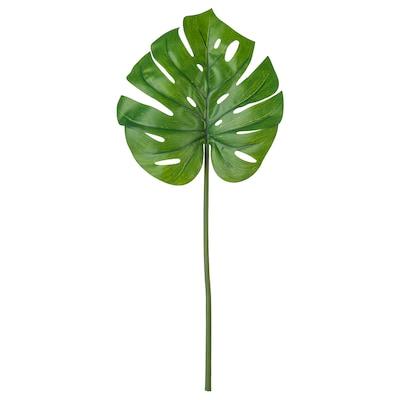 SMYCKA Hoja artificial, monstera/verde, 80 cm