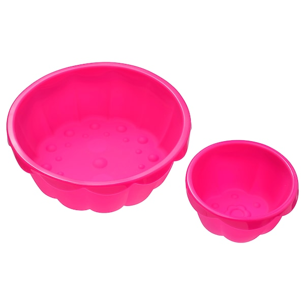SOCKERKAKA Moldes para hornear, 2 piezas, rosa