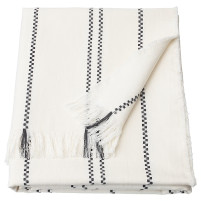 STINAMAJ Cobija, blanco/gris oscuro, 130x170 cm