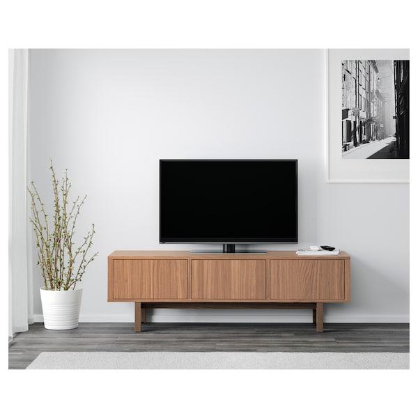 STOCKHOLM Mueble de TV, chapa nogal, 160x40x50 cm