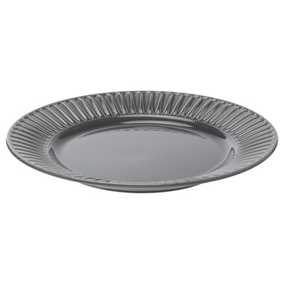 STRIMMIG Plato, gres gris, 27 cm