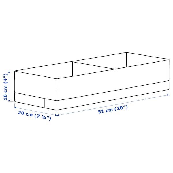 STUK Caja c/compartimentos, blanco, 20x51x10 cm
