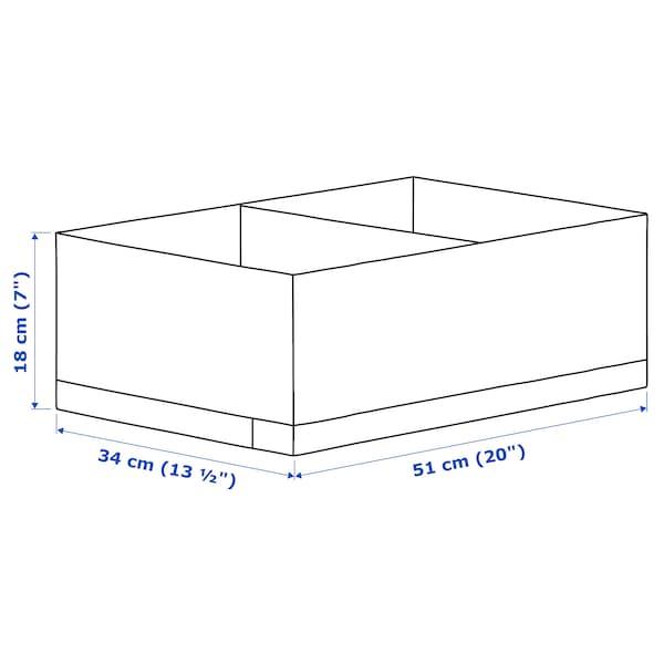 STUK Caja c/compartimentos, blanco, 34x51x18 cm
