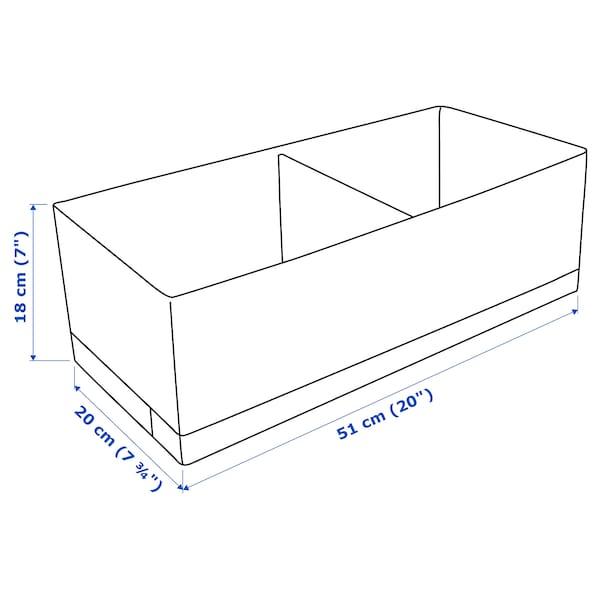 STUK Caja c/compartimentos, blanco, 20x51x18 cm